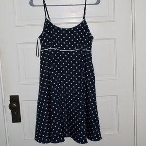 Polka dot sleeveless dress